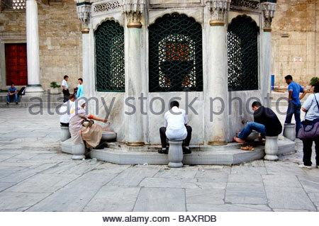 YENI CAMI OU LA NOUVELLE mosquée à Istanbul TURQUIE Photo Stock
