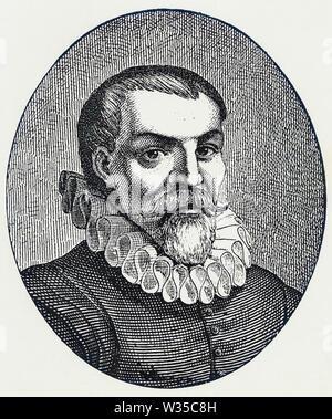 WILLEM BARENTSZ (c 1550-1597), navigateur hollandais, cartographe et explorateur de l'Arctique Photo Stock