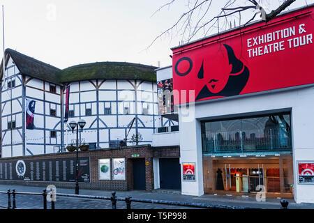 L'Angleterre, Londres, Southwark, Shakespeare's Globe Theatre Photo Stock
