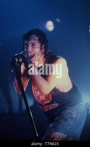 NINE INCH NAILS groupe rock américain en avril 1994 avec Trent Reznor Photo Stock