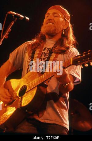 WILLIE NELSON American musicien country et acteur de film environ 1982 Photo Stock