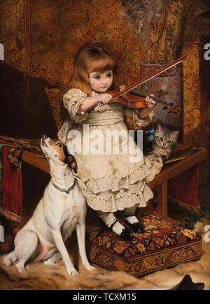 Le petit violoniste , 1887. Collection privée. Photo Stock