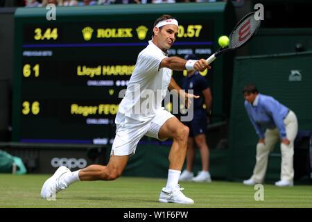 Roger Federer Wimbledon 2019 Photo Stock