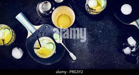 Plateau de Gin Photo Stock