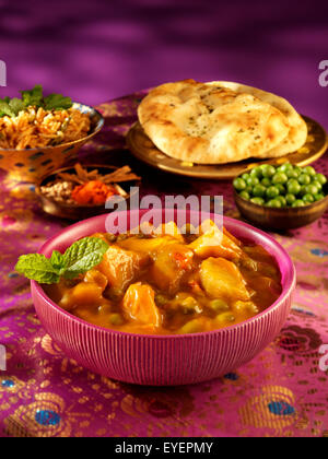 ALOO INDIEN CURRY QUESTION Photo Stock