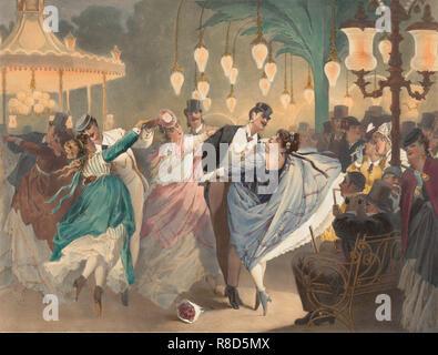 La valse &#xe0; Mabille, 1870. Collection privée. Photo Stock