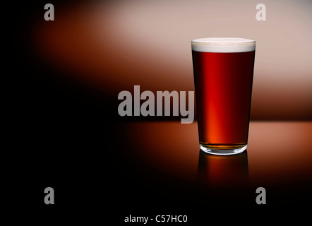 Une pinte de bière Photo Stock
