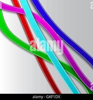Résumé fond avec des lignes de couleur Photo Stock