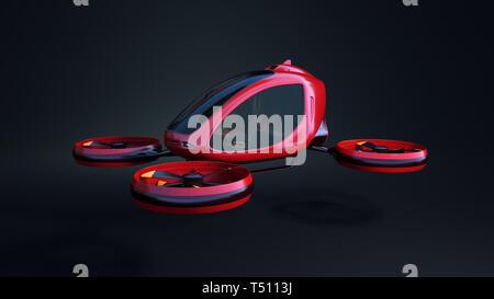 Drone passager électrique. C'est un modèle 3D et n'existe pas dans la vie réelle. 3D illustration Photo Stock
