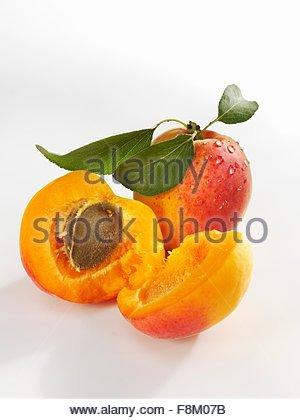 Abricots fraîchement lavés, Photo Stock