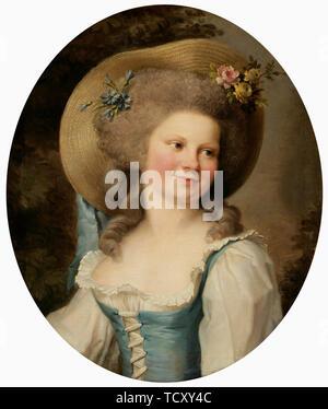 """Madame Dugazon (1755-1821) comme Babet dans la comédie """"Blaise et Babet, ou la suite des trois fermiers"""". On trouve dans la collection de Sinebrychoffin Taidemuseo, Helsinki. Photo Stock"""