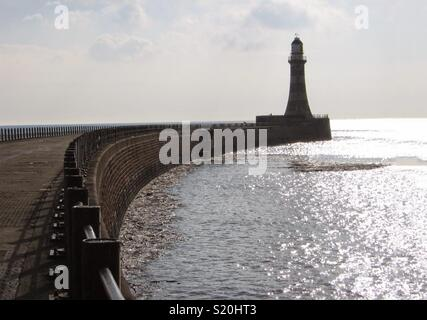 Phare de la jetée Roker, Sunderland Photo Stock