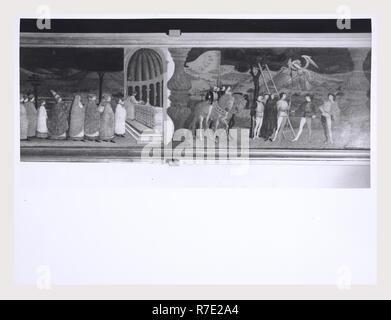 Marches Urbino Palazzo Ducale, Galleria Nazionale delle Marche, c'est mon l'Italie, l'Italie Pays de l'histoire visuelle, Post-médiévale Premier étage Polyptychs, triptyques, des crucifix, des peintures, sculptures, fresques maintenant logé dans Museo décoration en stuc en chapelles privées Voir également Urbino, Musée Albani Photo Stock