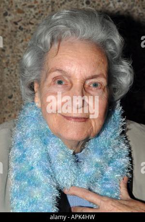 Senior woman smiling Photo Stock