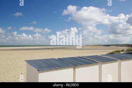 Beach house,plage de sable fin et de la mer du Nord à breezand,walcheren,225,sud Pays-Bas Photo Stock