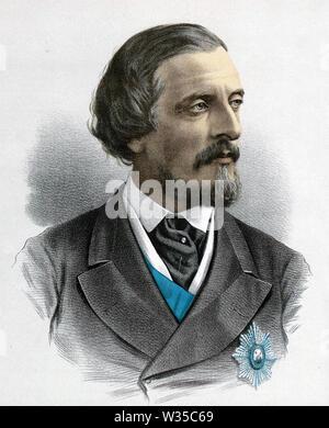 FREDERICK HAMILTON-TEMPLE-Blackwood (1826-1902) administrateur colonial britannique Photo Stock