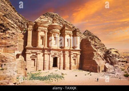 Le monastère (Al-Deir), Petra, Jordanie Photo Stock