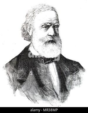 Portrait de François-Vincent Raspail (1794-1878), un chimiste français, naturaliste, médecin, physiologiste, avocat, homme politique et social. En date du 19e siècle Photo Stock