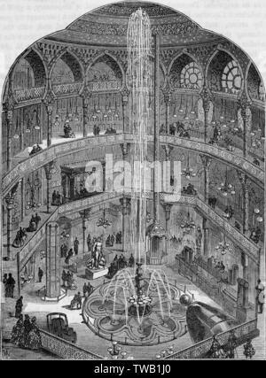 """Construit en 1854 par T Hayter Lewis comme 'Le Royal Panopticon"""", utilisé pour des expositions scientifiques. Converti à l'Alhambra Music Hall en 1864. Date: 1854 Photo Stock"""