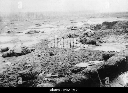 9 1916 318 A1 4 E Bataille de Postawy 1916 champ de bataille de la Première Guerre mondiale, Front de l'est Photo Stock