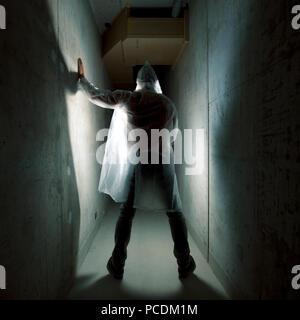 Délinquant,thriller,horreur,la claustrophobie Photo Stock