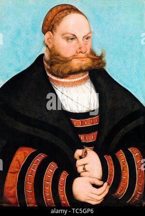 Lucas Cranach le Vieux, Lukas, Spielhausen peinture portrait, 1532 Photo Stock
