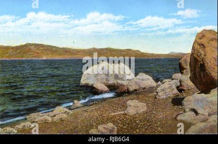 35 miles au nord de Reno, Nevada, USA - Pyramid Lake. Photo Stock