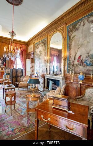 France, Paris, musée Nissim de Camondo, le grand bureau Photo Stock