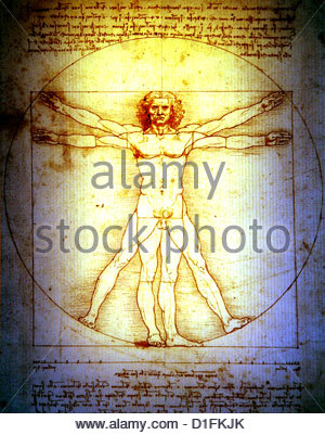 STRATION - DA VINCI Homme de Vitruve Photo Stock