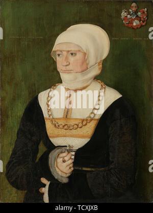 Portrait de Magdalena Pittrichin , 1528. On trouve dans la collection de Nasjonalmuseet for Kunst, Arkitektur og Design, Oslo. Photo Stock