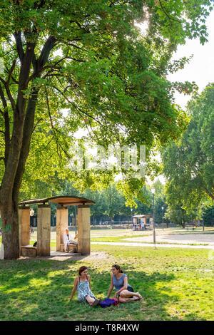 France, Paris, le parc de Bercy Photo Stock