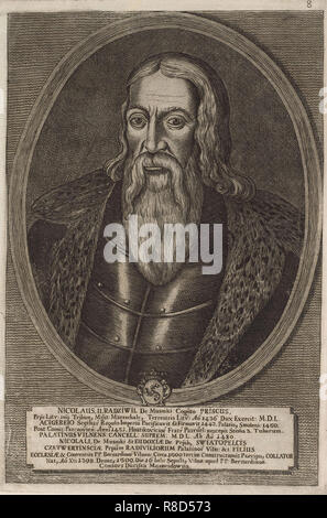 Nicolas II le vieux Radziwill (ca 1450-1509). À partir de: Icones Familiae Ducalis Radivilianae, 1758. Collection privée. Photo Stock