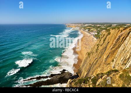 Praia Grande, Sintra. Portugal Photo Stock