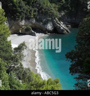 L'Italien plage près de Lerici Ligurie Photo Stock
