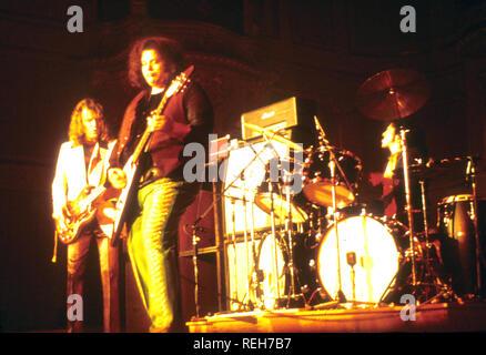 WEST, BRUCE ET le groupe rock britannique Laing sur 1973 Photo Stock