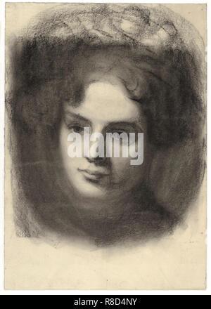 Portrait d'une fille, c1907. On trouve dans la Collection d'Albertina, Vienne. Photo Stock