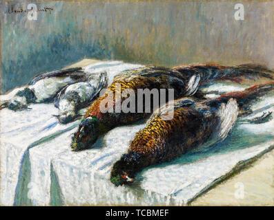 Claude Monet, La vie toujours avec les faisans et les pluviers, still life peinture, 1879 Photo Stock