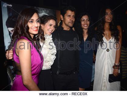 Singer Shweta Pandit, Isha Sharvani, acteur Vikram, Sheetal Menon et Monica Dogra durant la musique Lancement du film à venir David à Mumbai, Inde, le 14 janvier 2013. (Dr Naik/ IMAGES SOLARIS) Photo Stock