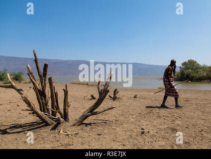 Lac Afambo, région Afar, Ethiopie, Afambo Photo Stock