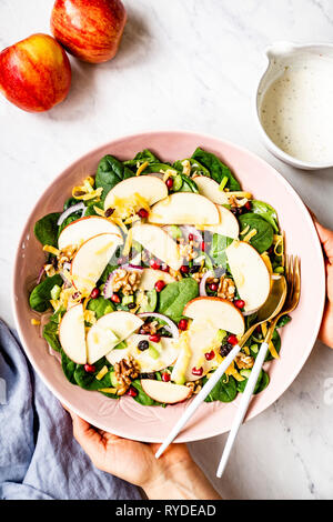 Une bonne Salade de pommes Photo Stock