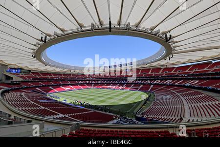 Madrid, Espagne. 1er juin 2019. Wanda Metropolitano, stade V Tottenham Hotspur FC Liverpool FC, 2019 Allstar Crédit: photo library/Alamy Live News Photo Stock