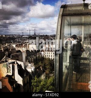 La ville de Paris vue du Centre Pompidou, Beaubourg, Paris Photo Stock