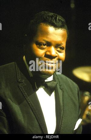 OSCAR PETERSON (1925-2007) pianiste de jazz canadien environ 1970 Photo Stock