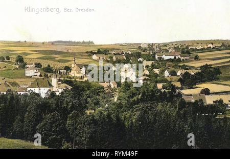 Dans les bâtiments d'églises, Sächsische Schweiz-Osterzgebirge Landkreis dans Landkreis Sächsische Schweiz-Osterzgebirge, Klingenberg (Klingenberg), 1908, Landkreis Sächsische Schweiz-Osterzgebirge, Klingenberg, Allemagne Photo Stock