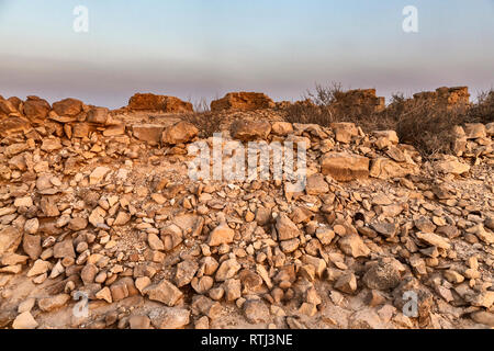 Romain de Nitzana, ville morte, désert du Néguev, Israël Photo Stock
