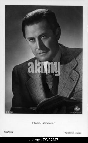 Hans Sohnker (1903-1981) - acteur de cinéma allemand Date: fin des années 40 Photo Stock