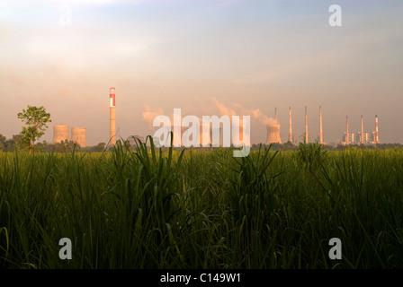 Centrale thermique de NEYVELI LIGNITE CORPORATION LIMITED TAMILNADU Photo Stock