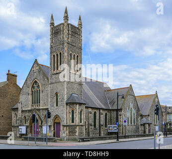 Pierre angulaire de l'Église méthodiste à Worthing, West Sussex, est vide et attend c'est le destin. Photo Stock