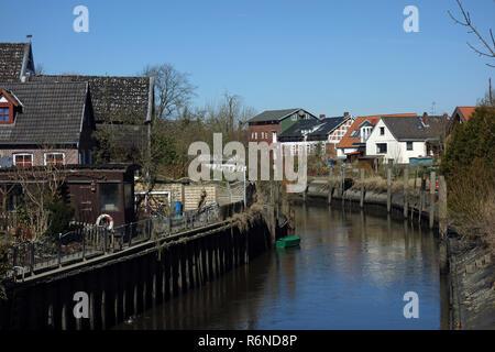 Estebrugge dans le vieux pays Photo Stock