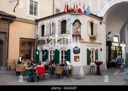 Le restaurant Zum Eulenspiegel, Salzbourg Photo Stock